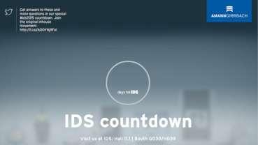 Amann Girrbach spouští na svém webu odpočítávání pro zkrácení času zbývajícího do konání výstavy IDS 2015