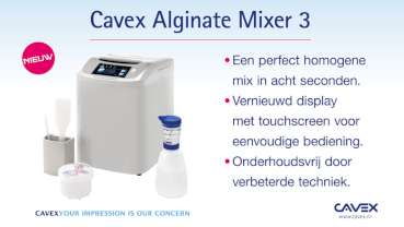 Cavex Alginate Mixer 3, voor de perfecte alginaat mix