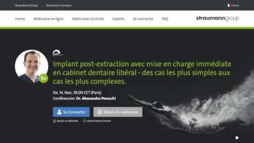 La plateforme E-learning dentaire du Groupe Straumann est en expansion
