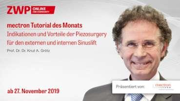 """mectron Tutorial: """"Indikationen und Vorteile der Piezosurgery"""" ab 27. November verfügbar"""