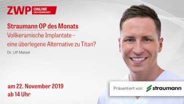 Straumann Live-Tutorial am 22. November zu vollkeramischen Implantaten