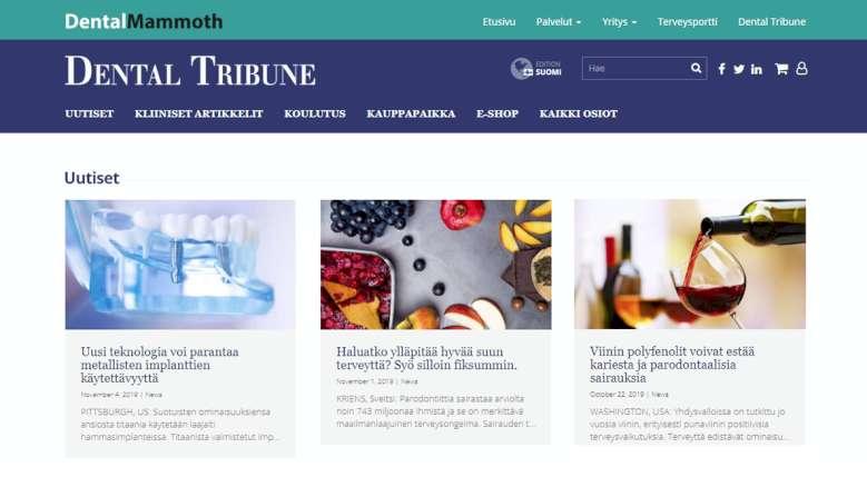 Dental Tribunen Suomen sivusto avautuu Hammaslääkäripäivillä