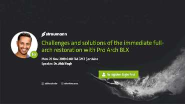 Treatment of edentulism with Pro Arch BLX focus of free webinar