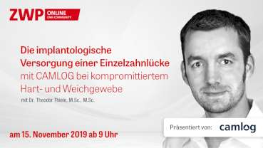 Am 15. November: CAMLOG Live-OP mit Dr. Theodor Thiele