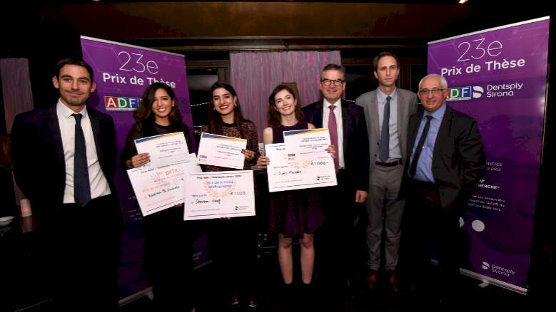 Prix de thèse ADF/Dentsply Sirona 2019 : Un niveau qualitatif toujours plus fort