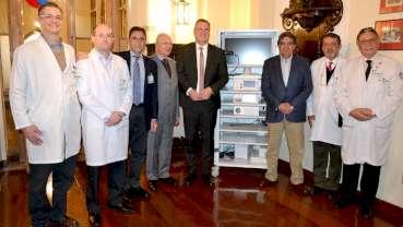 Richard Wolf and E. Tamussino honored for their donation to Santa Casa de Misericordia Hospital